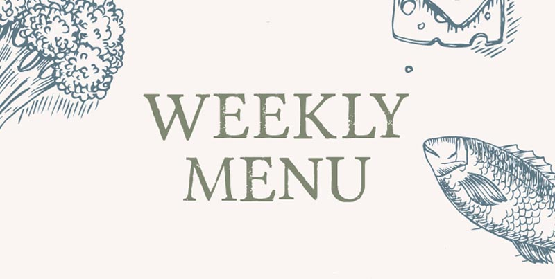 Weekly Market Menu